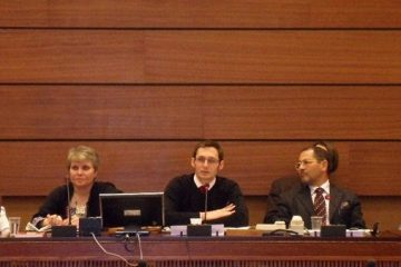 I joined NGO and OHCHR staff to present research at the panel,
